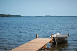 boat in a lake