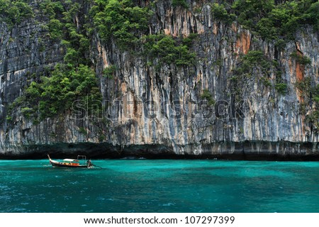 Boat  in andaman sea Thailand