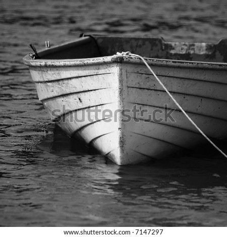 Boat in Black and White - stock photo
