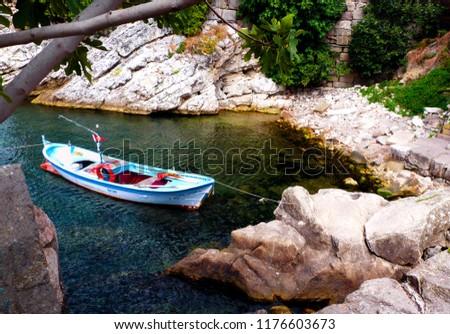 Boat in the sea Stok fotoğraf ©