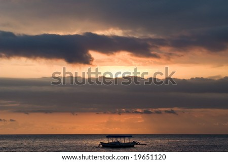 boat in the sunset