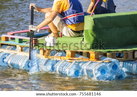 boat made of recycled plastic