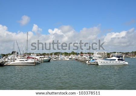 Boat marina at St. Augustine, Florida