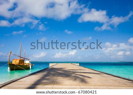 boat near a pier