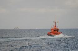 Boat of maritime rescue. Las Palmas de Gran Canaria. Gran Canaria. Canary Islands. Spain.