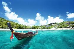 boat on beach, Thailand