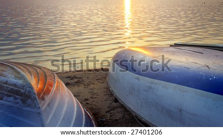 boat on the sunset