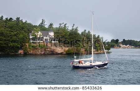 boat parked on a cottage country