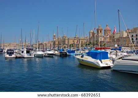 boat parking on the gozo.  malta