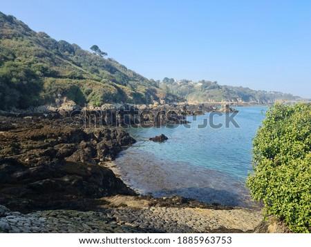 Boat Port, Bec Du Nez, Guernsey Channel Islands Photo stock ©