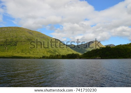 Boat Ride down a Firth in the Highlands of Scotland #741710230