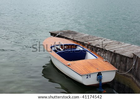 Boat to a dock