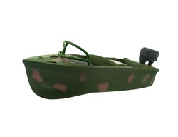 Boat toy. Isolated military special forces motorboat toy photo.