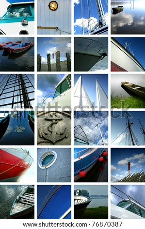 Boat transport collage