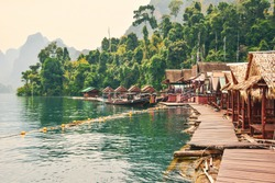 Boat trip in the Khao Sok National Park, Thailand