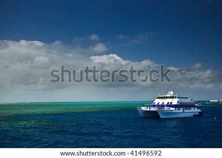 Boat trip on Great Barrier Reef Australia