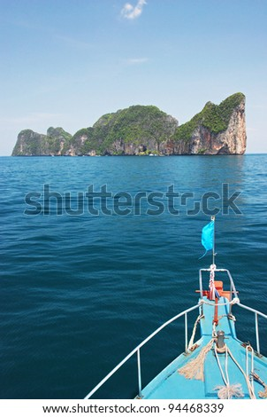 Boat trip to Koh Phi Phi island, Thailand
