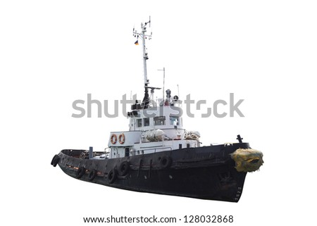 Boat Under The White Background Stock Photo