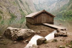 Boathouse at lake Obersee