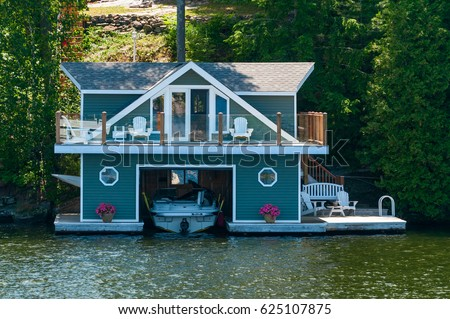 Boathouse with a studio - Shutterstock ID 625107875