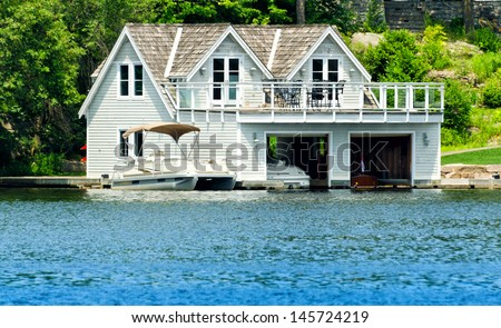 Boathouse with room upstairs