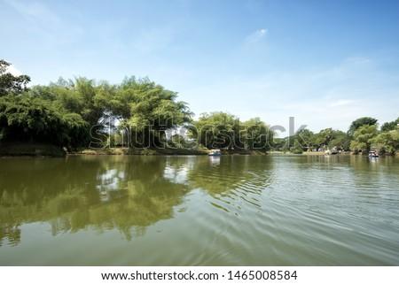Boating activity at Taiping Lake, Taiping, Malaysia. #1465008584