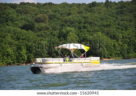 Boating In Indiana - Boating on Brookville Lake in Indiana, USA.
