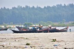 Boats Anchored at Sagar Island at Gangasagar , West Bengal , India