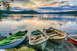 Boats and water in silence and romance Europe travel
