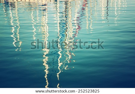 boats as reflection in the...