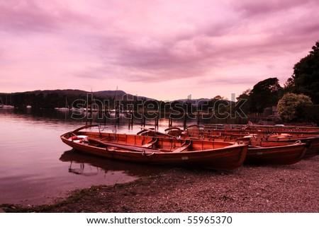 Boats at Ambleside, Lake District, England