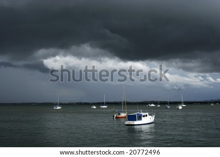 Boats at Coochiemudlo Island - stock photo