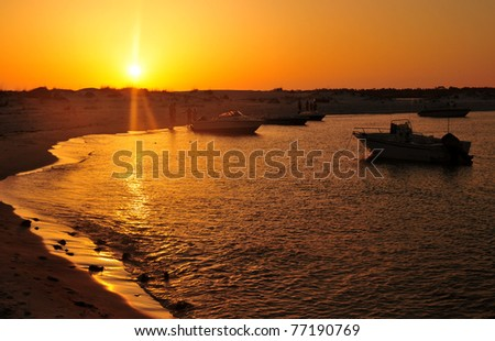Boats at Sunset in Florida