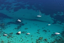 Boats close to Cagliari, Sardinia, Italy