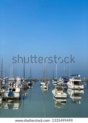 Boats dock at the Manila Bay #1335499499