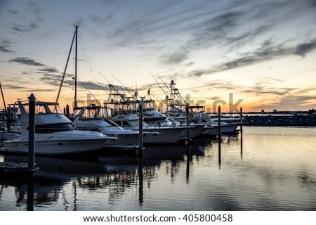 Boats Docked at the Yacht Club #405800458