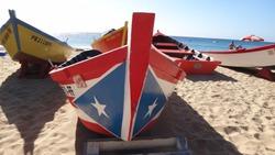 Boats docked in crash boat beach, aguadilla Puerto Rico before hurricane Maria