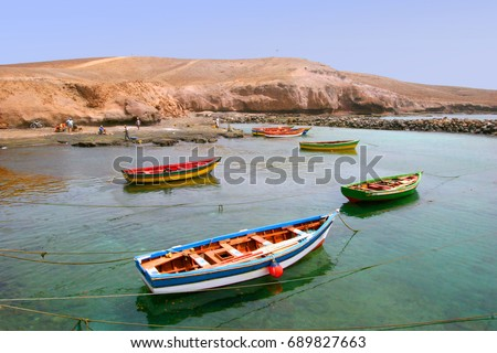 Shutterstock Boats in a small harbor in Cape Verde islands, Republic of Cabo Verde