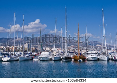 boats in Fuengirola port, Spain