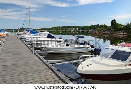 Boats in Karlskrona's harbor #107363948
