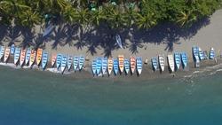 Boats in Palmar de Ocoa, Salinas, The Dominican Republic
