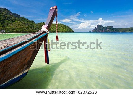 Boats in the tropical sea. Phi Phi island. Thailand #82372528