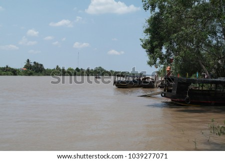 Boats on the Mekong river #1039277071
