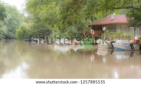 Boats on the river Kamchiya, summer 2013, Bulgaria #1257885535