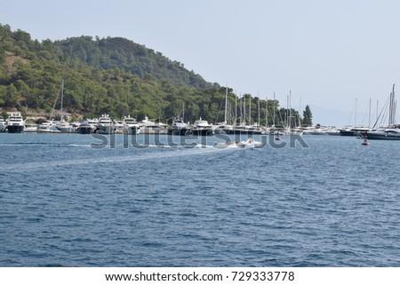 boats the Mediterranean sea  #729333778