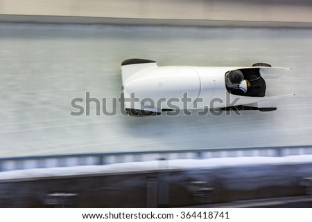 bob running on ice track competition