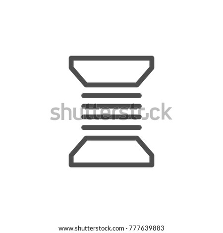 Bobbin thread line icon isolated on white