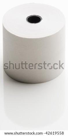 Bobina di carta bianca per calcolatrice Foto d'archivio ©