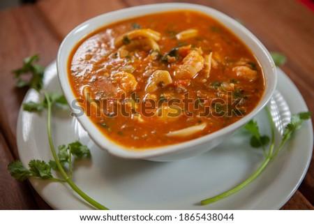 Bobo de camarão, Shrimp bobo Traditional Brazilian Food Foto stock ©
