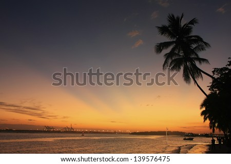 Boca Chica beach at sunset, Dominican Republic